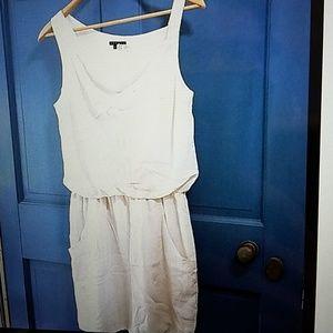 Theory mini off white dress
